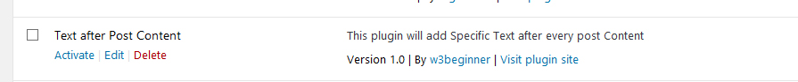 Basic WordPress plugin