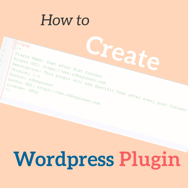 How to create first WordPress plugin